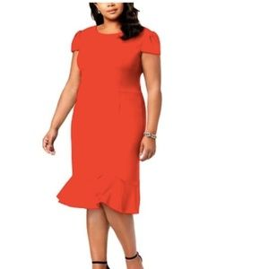 NWOT Betsy Johnson   Red Ruffle Dress